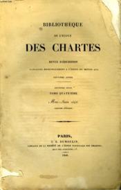 Bibliotheque De L'Ecole Des Chartes - Deuxieme Serie - Tome A - Mai Juin - Couverture - Format classique