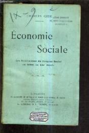 Economie Sociale Les Institutions Du Progres Social Au Debut Du Xxe Siecle. - Couverture - Format classique