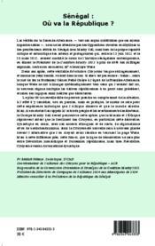 REVUE COURS NOUVEAU ; Sénégal : où va la République ? approche critique, autocritique et prospective de la Seconde Alternanace - Couverture - Format classique