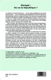 REVUE COURS NOUVEAU ; Sénégal : où va la République ? approche critique, autocritique et prospective de la Seconde Alternanace - 4ème de couverture - Format classique