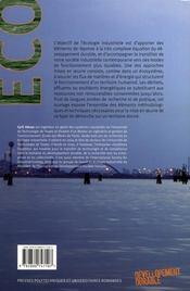 Mettre en oeuvre l'écologie industrielle - 4ème de couverture - Format classique