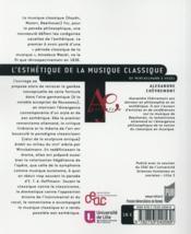 L'esthétique de la musique classique ; de Winckelmann à Hegel - 4ème de couverture - Format classique