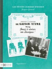 Petit cahier de savoir-vivre - Couverture - Format classique