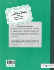 Petit cahier de savoir-vivre - 4ème de couverture - Format classique