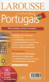 Larousse de poche + ; portugais ; français-portugais / portugais-français - 4ème de couverture - Format classique