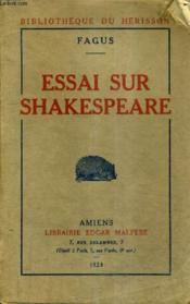 Essai Sur Shakespeare. - Couverture - Format classique