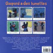 Gaspard a des lunettes - 4ème de couverture - Format classique