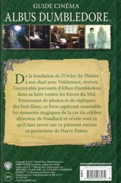 Harry Potter ; guide cinéma t.4 ; Albus Dumbledore - 4ème de couverture - Format classique
