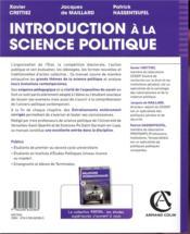 Introduction à la science politique - 4ème de couverture - Format classique