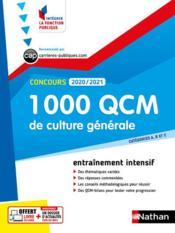 1 000 QCM culture générale ; cétegories A, B, C (édition 2020/2021) - Couverture - Format classique