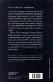 L'imposture du marronnier - 4ème de couverture - Format classique