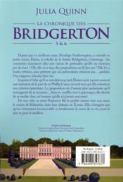 La chronique des Bridgerton ; t.5 et t.6 - 4ème de couverture - Format classique