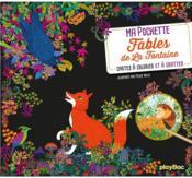 Ma pochette fables de La Fontaine : cartes à colorier et à gratter - Couverture - Format classique