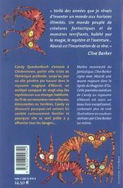 Abarat t.1 - 4ème de couverture - Format classique