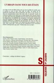 L'Urbain Dans Tous Ses Etats ; Faire, Dire, Vivre La Ville - 4ème de couverture - Format classique