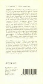 John Adams - 4ème de couverture - Format classique