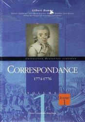 Correspondance t.1 et t.2 ; 1774-1776 et 1777-1779 - Intérieur - Format classique