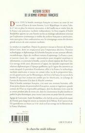 Histoire De La Bombe Atomique Francaise ; Secret Defense - 4ème de couverture - Format classique