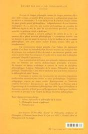 Une introduction a la philosophie - 4ème de couverture - Format classique