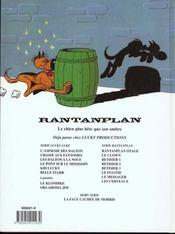 Rantanplan t.10 ; les cerveaux - 4ème de couverture - Format classique