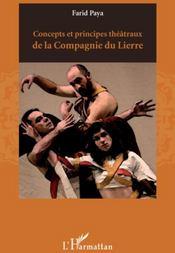 Concepts et principes théâtraux de la compagnie du Lierre - Couverture - Format classique