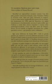 Qui nous délivrera de Louis XIV ? - 4ème de couverture - Format classique