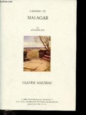 CAHIERS DE MALAGAR ; François Mauriac - Couverture - Format classique