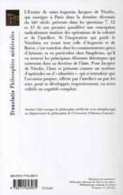 L'âme, l'intellect et la volonté ; textes latins introduits, traduits et annotés par Antoiné Coté - 4ème de couverture - Format classique