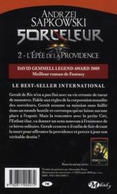 Le sorceleur T.2 ; l'épée de la Providence - 4ème de couverture - Format classique