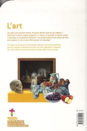 L'art - 4ème de couverture - Format classique