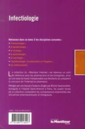 Le moniteur internat tome 3 4e ed infectiologie - 4ème de couverture - Format classique