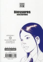 Blessures nocturnes t.10 - 4ème de couverture - Format classique