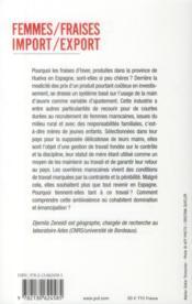 Femmes/fraises ; import-export - 4ème de couverture - Format classique