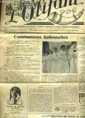 L'OLIFANT 11e ANNEE N°80 - COMMUNIONS COLENNELLES - SEANCE THEATRALE DES JEUNES DE RAUZAN - LA RICHESSE ET LE BONHEUR... - Couverture - Format classique