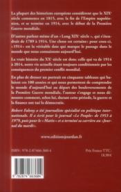 1914-2014, la véritable histoire du siècle - 4ème de couverture - Format classique