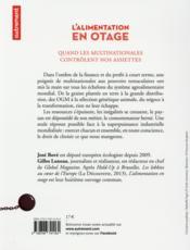 L'alimentation en otage - 4ème de couverture - Format classique