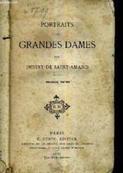 Portaits De Grandes Dames. - Couverture - Format classique