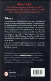 Tabous - 4ème de couverture - Format classique