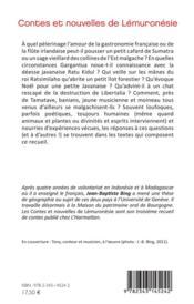 Contes et nouvelles de Lémuronésie ; récits d'Mndonésie et de Madagascar - 4ème de couverture - Format classique
