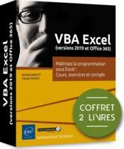 VBA Excel (versions 2019 et Office 365) ; coffret de 2 livres : maîtrisez la programmation sous Excel : cours, exercices et corrigés - Couverture - Format classique