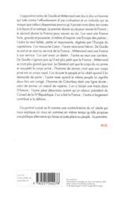 Vies parallèles ; De Gaulle Mitterrand - 4ème de couverture - Format classique