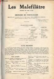 Les Malefilâtre - Comédie en deux actes. - Couverture - Format classique
