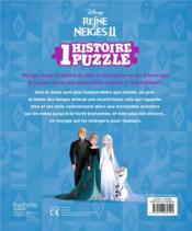 La Reine des Neiges 2 ; une histoire, un puzzle - 4ème de couverture - Format classique
