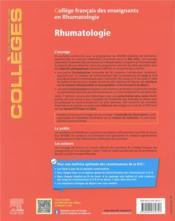 Rhumatologie : réussir son DFASM ; les connaissances clés + entraînements corrigés (7e édition) - 4ème de couverture - Format classique