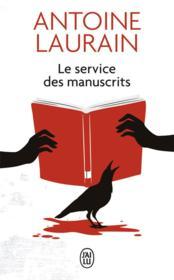 Le service des manuscrits - Couverture - Format classique