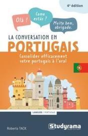 La conversation en portugais ; consolider efficacement votre portugais à l'oral - Couverture - Format classique