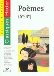 Recueil De Poemes ; 5e-4e - Couverture - Format classique