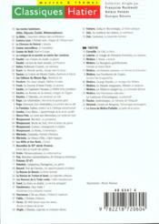 Recueil De Poemes ; 5e-4e - 4ème de couverture - Format classique