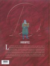 Le triangle secret ; Hertz t.1 - 4ème de couverture - Format classique