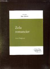 Zola Romancier - Couverture - Format classique